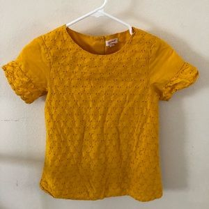 Kids size L (10/12)  cat and jack yellow top